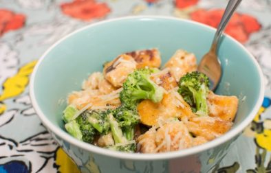 Sweet Potato Gnocchi with Broccoli and Sage Butter Sauce - Our Kind of Wonderful
