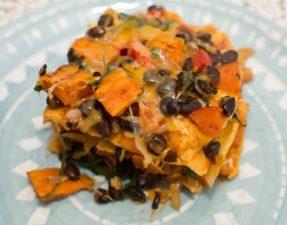 Sweet Potato and Black Bean Enchiladas - Our Kind of Wonderful