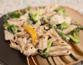 Confetti Chicken Pasta - Our Kind of Wonderful