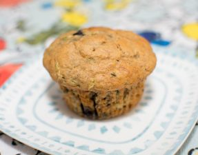 Zucchini, Banana, and Blueberry Muffins - Our Kind of Wonderful