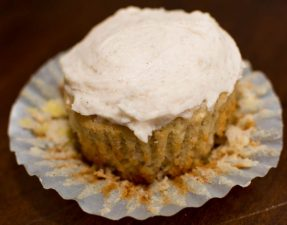 Banana Muffins with Cinnamon Frosting - Our Kind of Wonderful