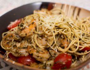 Shrimp Pesto Pasta - Our Kind of Wonderful
