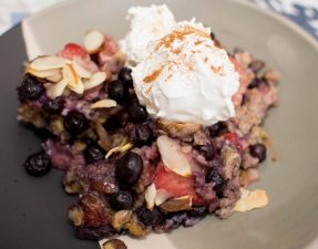 Baked Berry Oatmeal - Our Kind of Wonderful