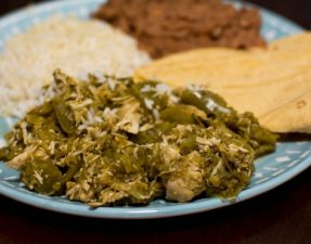Crockpot Chicken Chile Verde - Our Kind of Wonderful