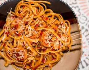 Sun-Dried Tomato Basil Shrimp Pasta - Our Kind of Wonderful