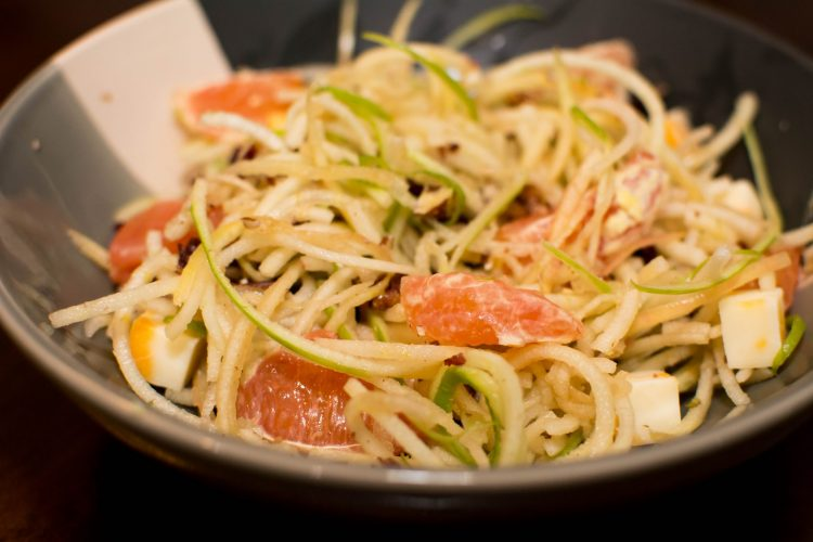 Spiralized Apple Salad - Our Kind of Wonderful