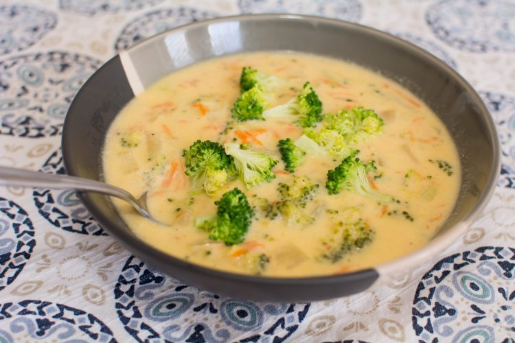 Broccoli Cheese Soup - Our Kind of Wonderful