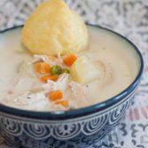 Crock Pot Chicken Pot Pie Soup - Our Kind of Wonderful